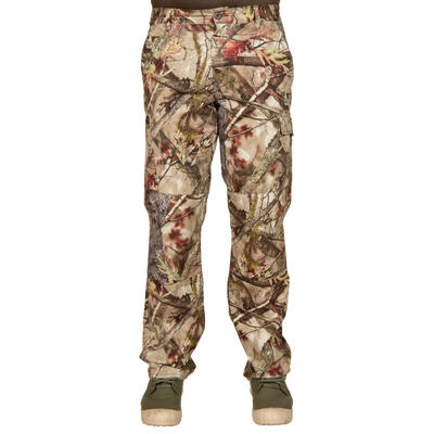 Hunting Breathable Trousers 100 - Forest Camo