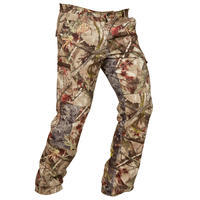 Hunting Breathable Trousers 100 - Woodland Camouflage