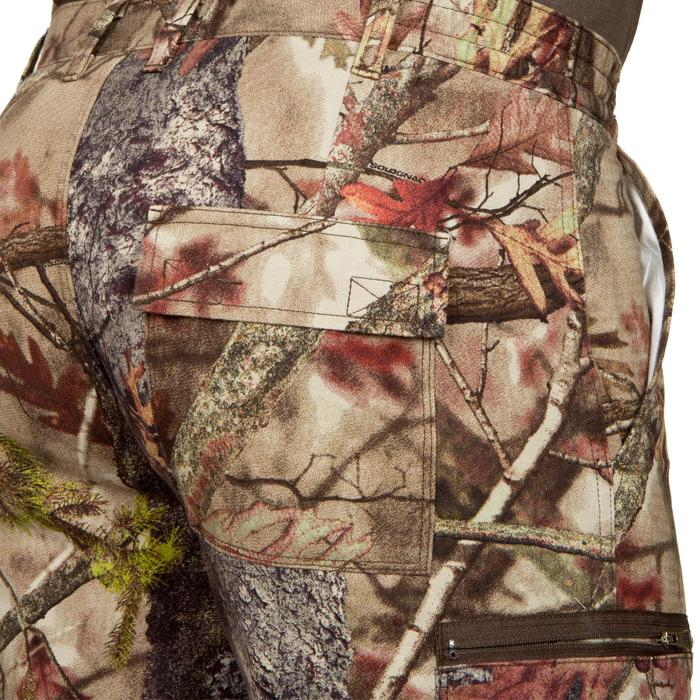 PANTALON CHASSE RESPIRANT 100 CAMOUFLAGE FORET