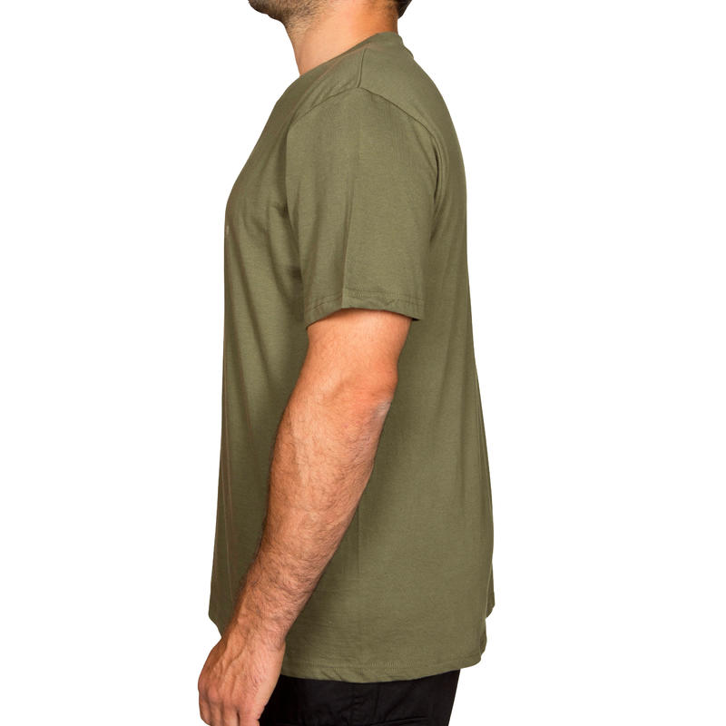 Polera steppe 100 manga corta verde