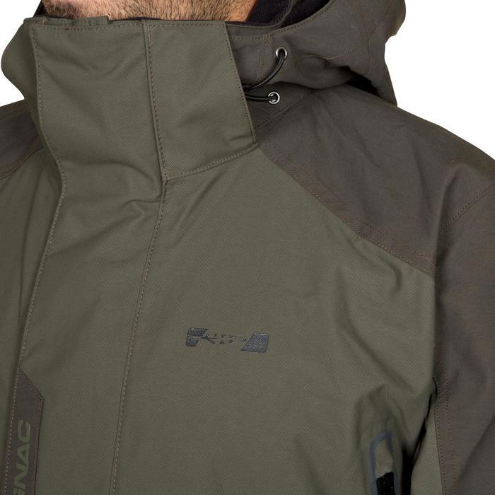 Regenjas Inverness 500 voor de jacht groen