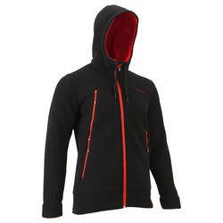SH500 Men's Warm Snow Hiking Sweater-Black