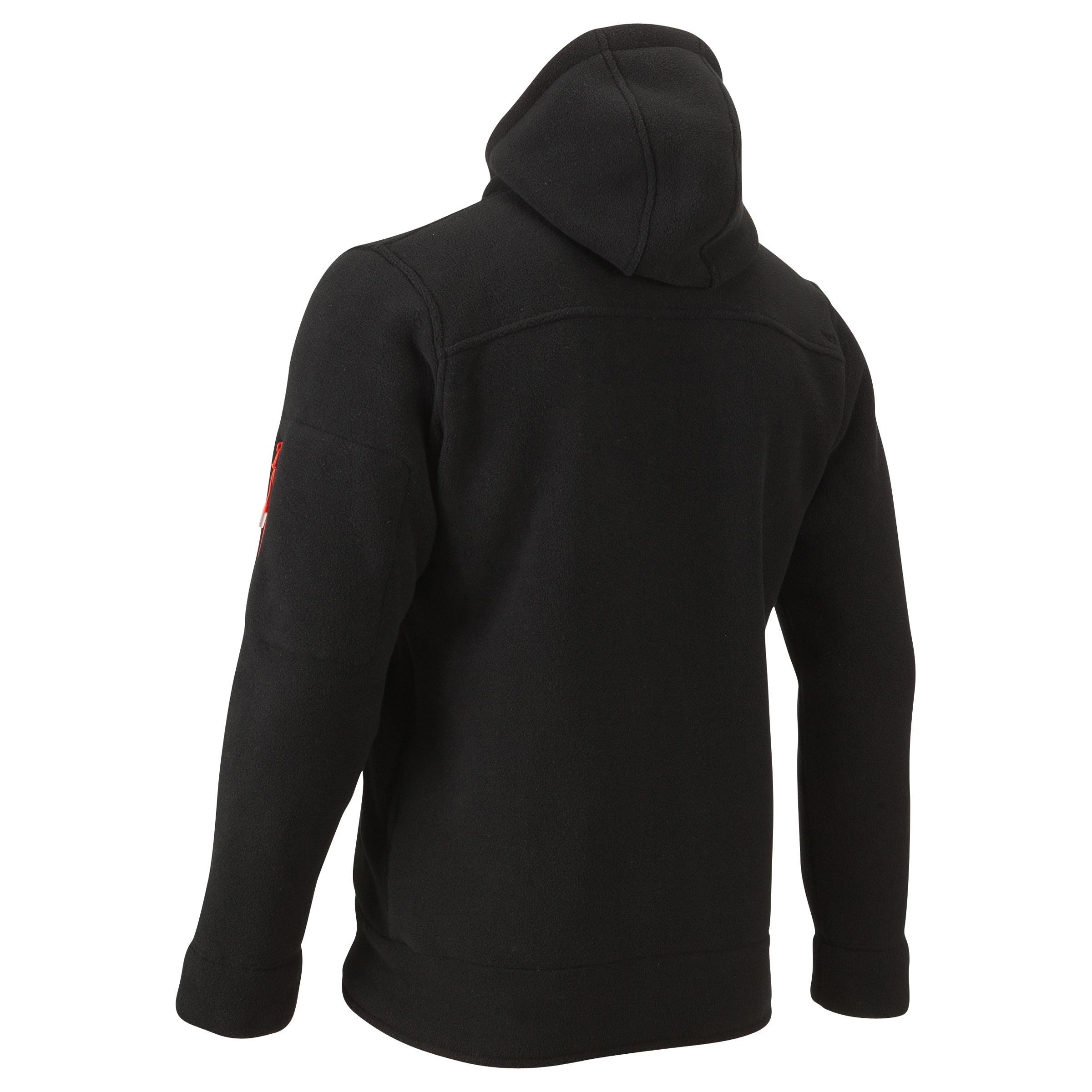 Randonnée De Polaire Neige Veste Warm Noire Homme Sh100 Ultra ESqUxn