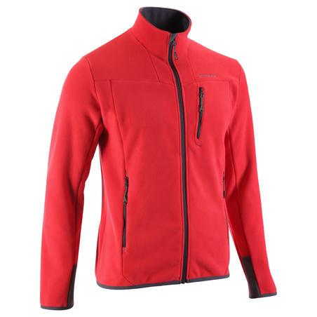 Forclaz 500 Men's Fleece Hiking Jacket QUECHUA - red