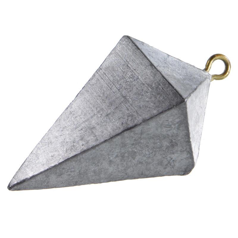 Fishing surfcasting pyramid sinker x2