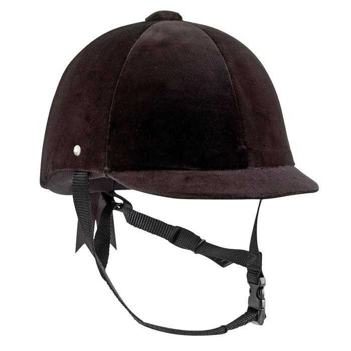 Bombe équitation C400 velour noir (tailles 52 à 59 cm) - 53214