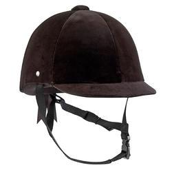 Casco Equitación Fouganza C400 Terciopelo Negro - Tallas 52 a 59 CM