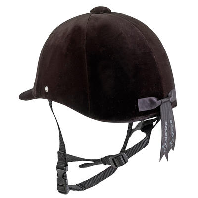 C400 Horse Riding Helmet (Sizes 52 to 59cm) - Black Velvet
