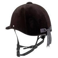 C400 Horse Riding Helmet (Sizes 50, 51 & 60cm) - Black Velvet