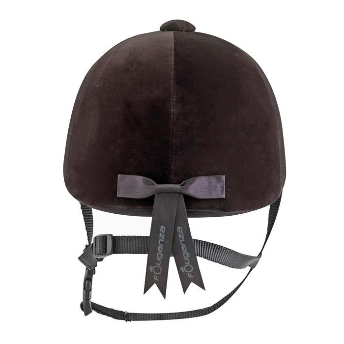 Bombe équitation C400 velour noir (tailles 52 à 59 cm) - 53216