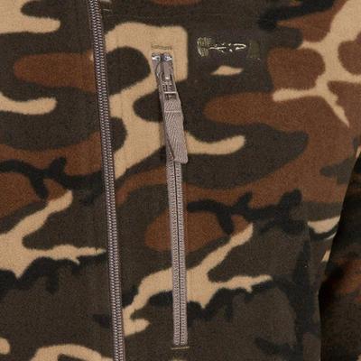 Кофта 300 для полювання, флісова - Зелений камуфляж