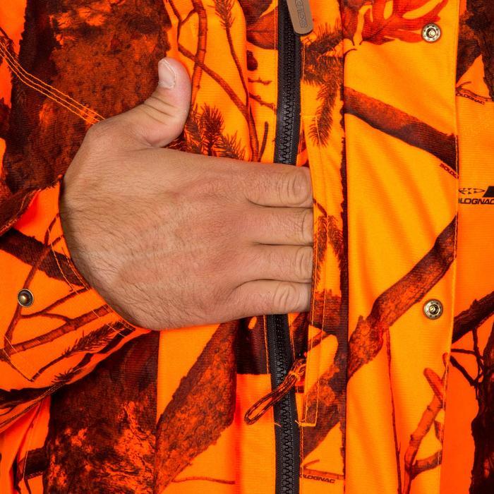 Jagd-Regenjacke warm wasserdicht 3-IN-1 300 camouflage orange