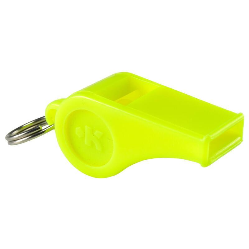 Geel plastic fluitje
