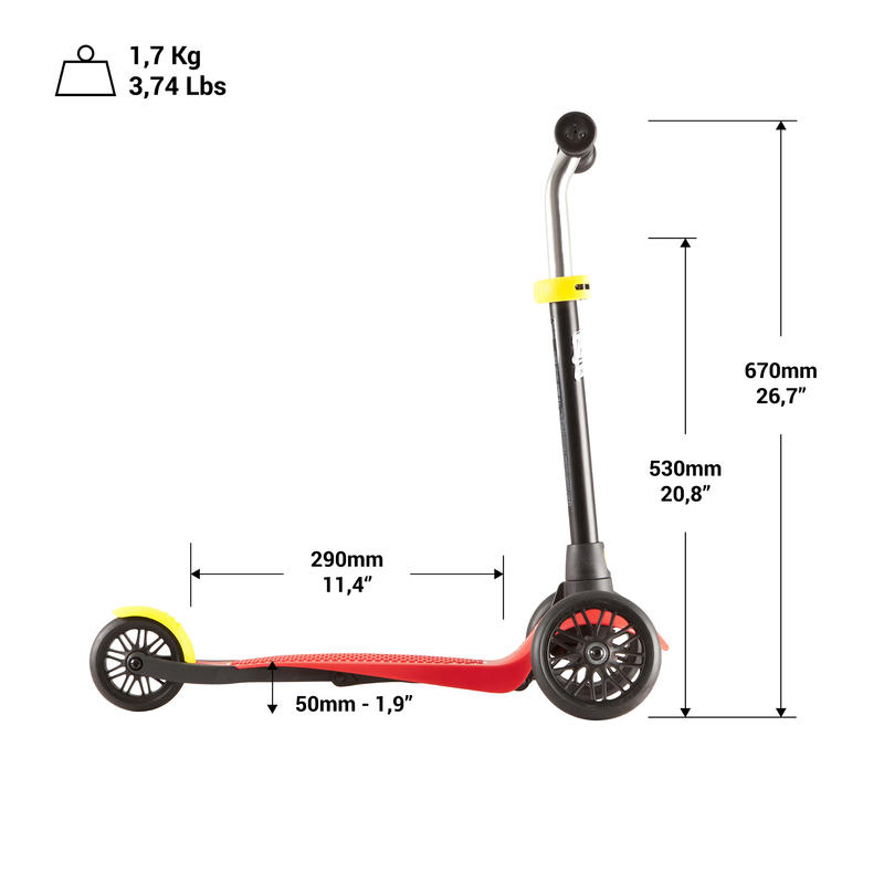 SCOOTER B1 BASE. ROJA