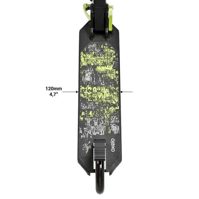 Fun-Scooter Mid5 mit Federung und Lenkerbremse Kinder schwarz/grün