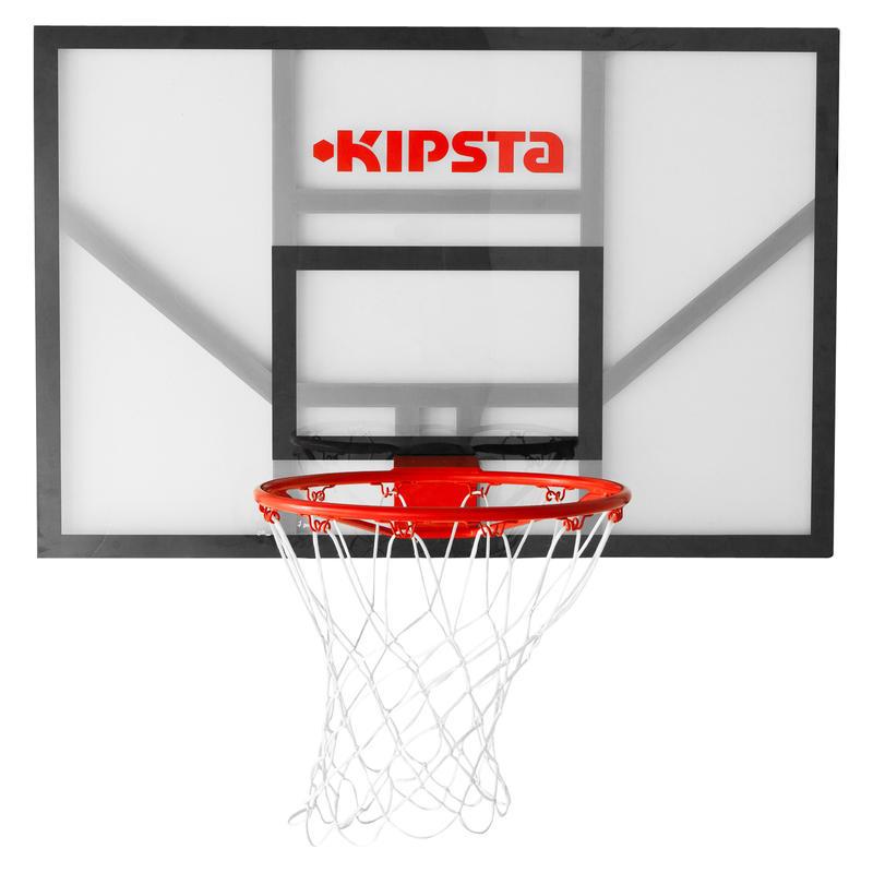 B700 Kids'/Adult Wall-Mounted Basketball Basket. Quality backboard.