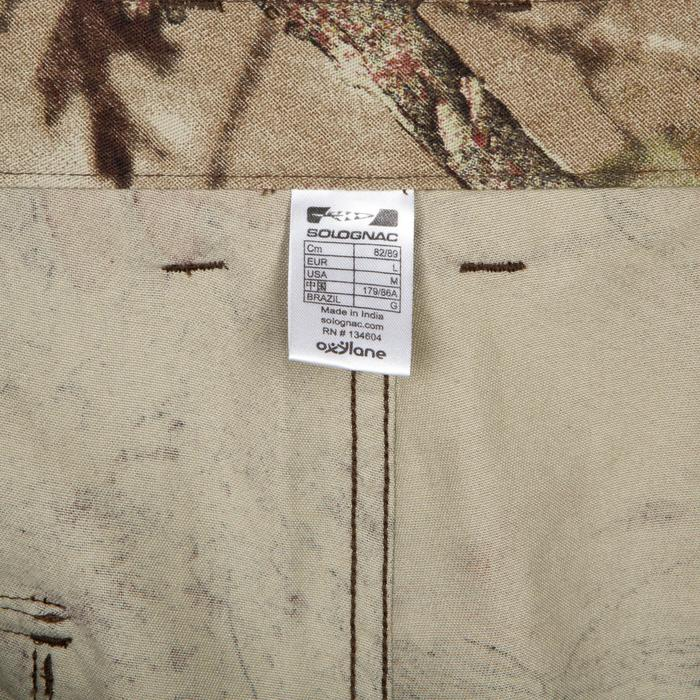 PANTALON CHASSE 100 RESPIRANT COTON CAMOUFLAGE FORET