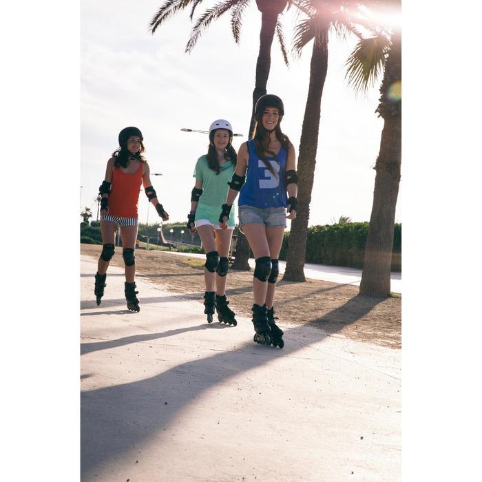 Fitness skeelers voor dames Fit 3 zwart/fuchsia