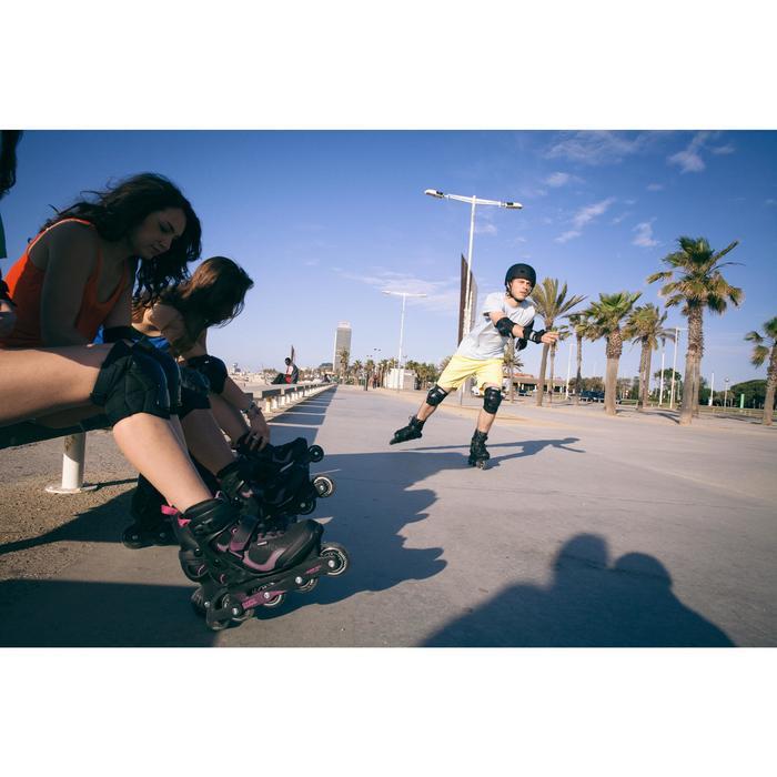 Muñequeras roller skateboard adulto FIT negro
