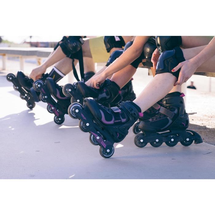 Roller fitness femme FIT 3 noir fuchsia