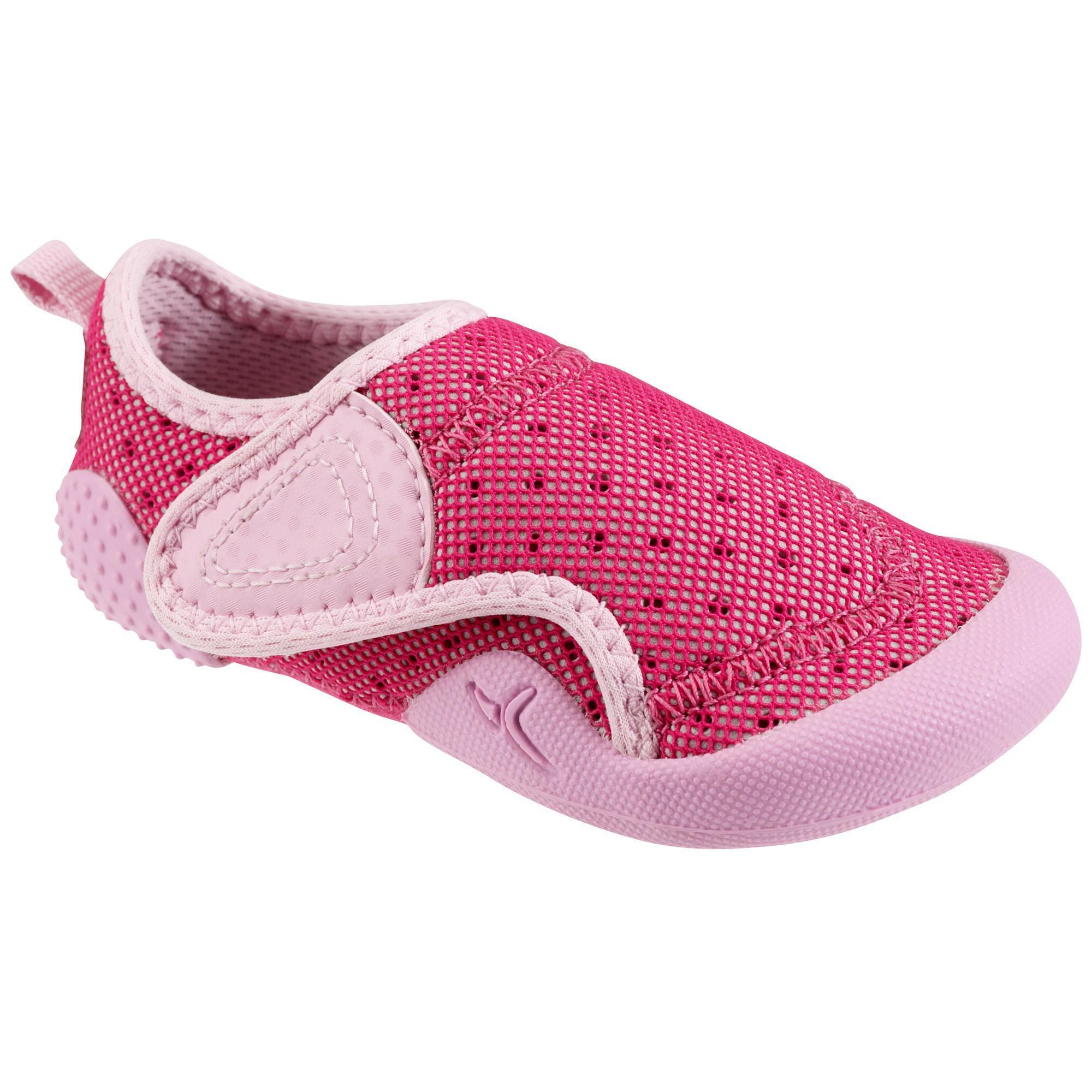 chaussons b b gym babylight rose fuschia domyos by decathlon. Black Bedroom Furniture Sets. Home Design Ideas