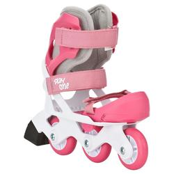 Roller découverte fille PLAY ONE rose blanc