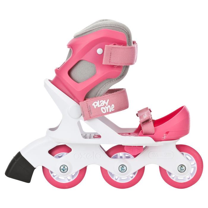 Inlineskates voor kinderen Play One roze wit