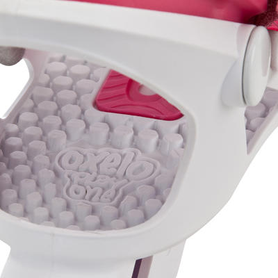 Roller enfant PLAY ONE rose blanc