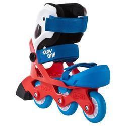 Skeelers Play One voor beginners jongens blauw/rood