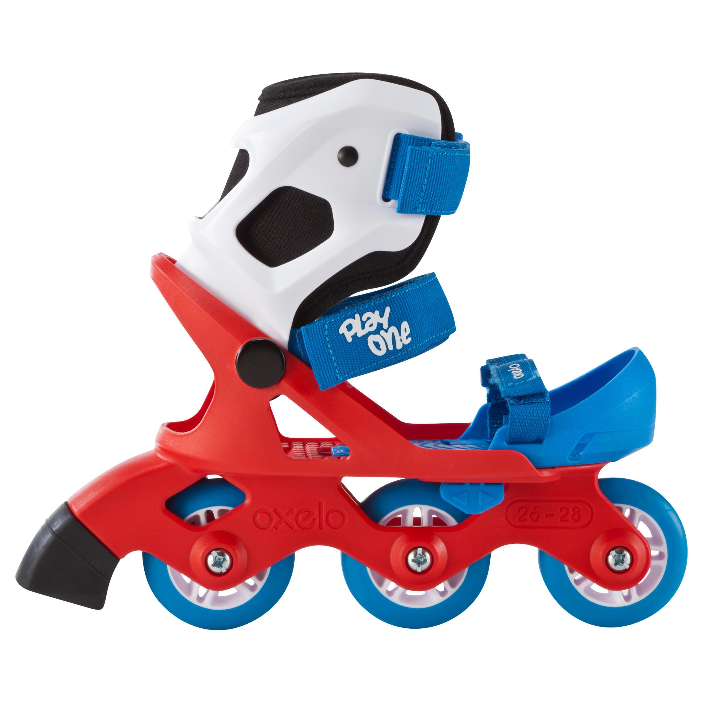 Roller découverte garçon PLAY ONE bleu & rouge