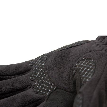 Рукавички 100 для велоспорту, флісові - Чорні