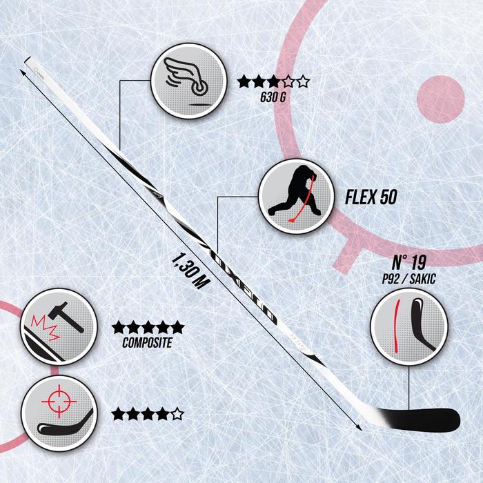 Crosse de hockey adulte  XLR 9 blanche - 541315