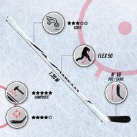 XLR 9 Adult Hockey Stick - White