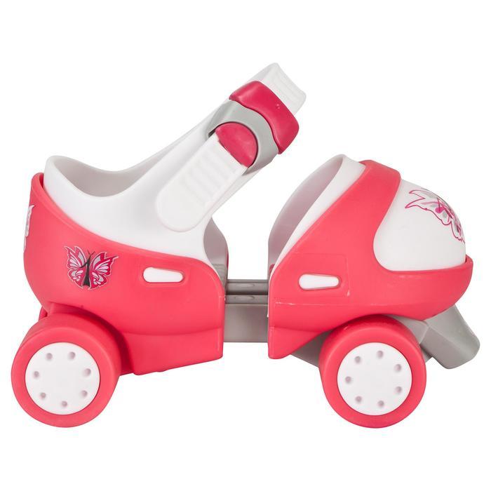 Patin à roulettes Quad fille TONY GIRL ajustable rose - 541427