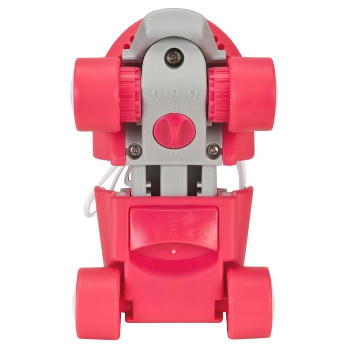 Patin à roulettes Quad fille TONY GIRL ajustable rose - 541428