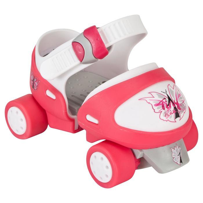 Patin à roulettes Quad fille TONY GIRL ajustable rose - 541430