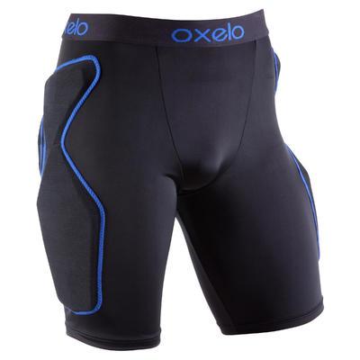 מכנסיים קצרים למבוגרים לסקייטבורד, רולרבליידס, קורקינט עם רפידת הגנה - שחור/כחול