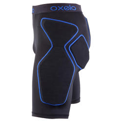 Crash Pad Adult Inline Skates Skateboard Scooter Protective Shorts - Black/Blue