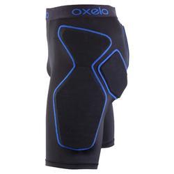 Short de protection roller skateboard trottinette adulte CRASH PAD noir et bleu