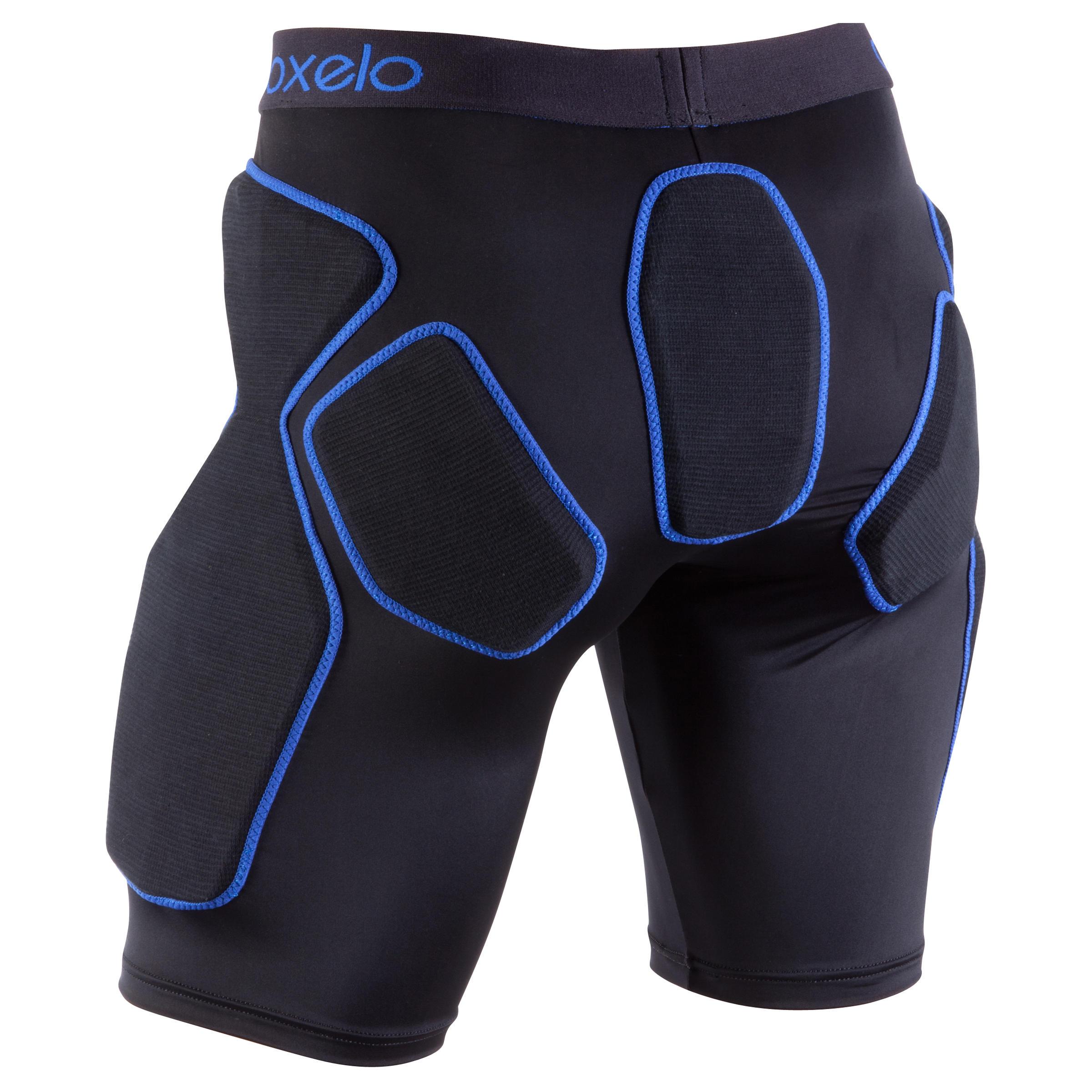 Short de protection patins, planche, trottinette adulte Protège-chute noir bleu