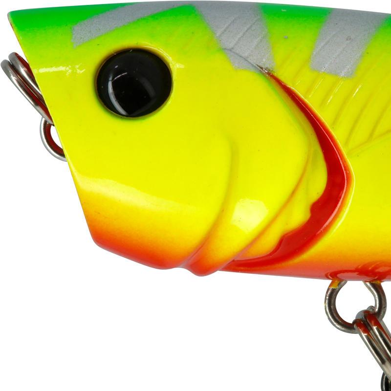 เหยื่อปลั๊กตกปลาแบบลอยทรงปอปเปอร์รุ่น BULLER 60 SILVER CHART
