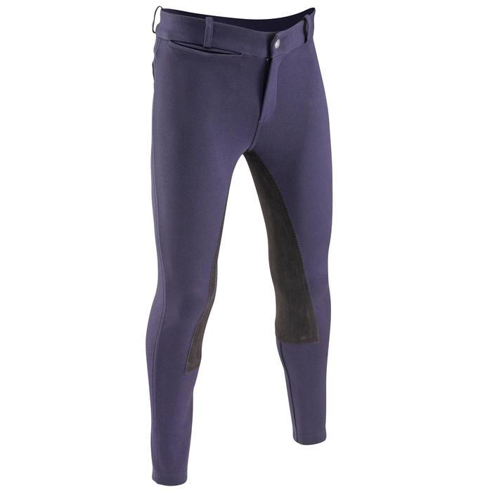 Pantalon équitation enfant FULLSEAT noir et - 542578