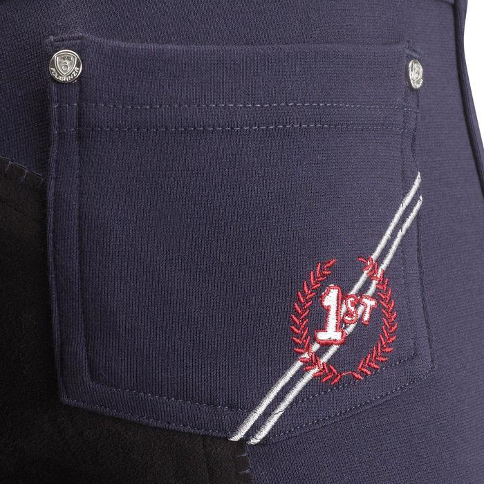 Pantalon équitation enfant FULLSEAT noir et - 542579