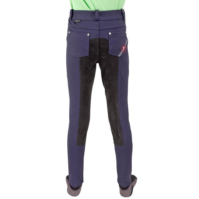 Pantalon équitation enfant FULLSEAT noir et - 542581