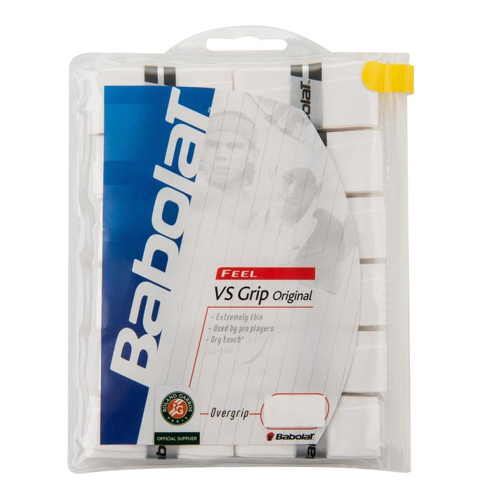 GRIP DE TENNIS OVERGRIP VS x12 BLANC