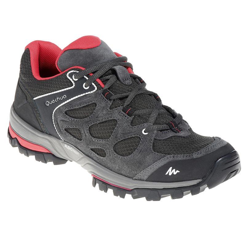 Chaussures de randonnée montagne femme Forclaz Flex 3 gris rose