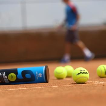 Tennisbälle TB 920* Druckball 4er Dose gelb