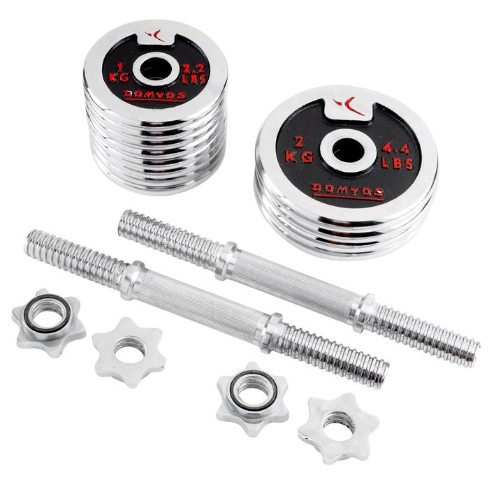 Chrome Weight Training Dumbbell Kit 20kg