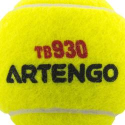 Tennisballen competitie TB930 4 stuks geel - 545805