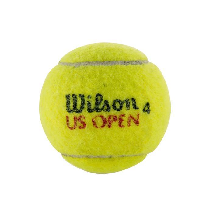 BALLES DE TENNIS US OPEN LOT DE 4 JAUNE